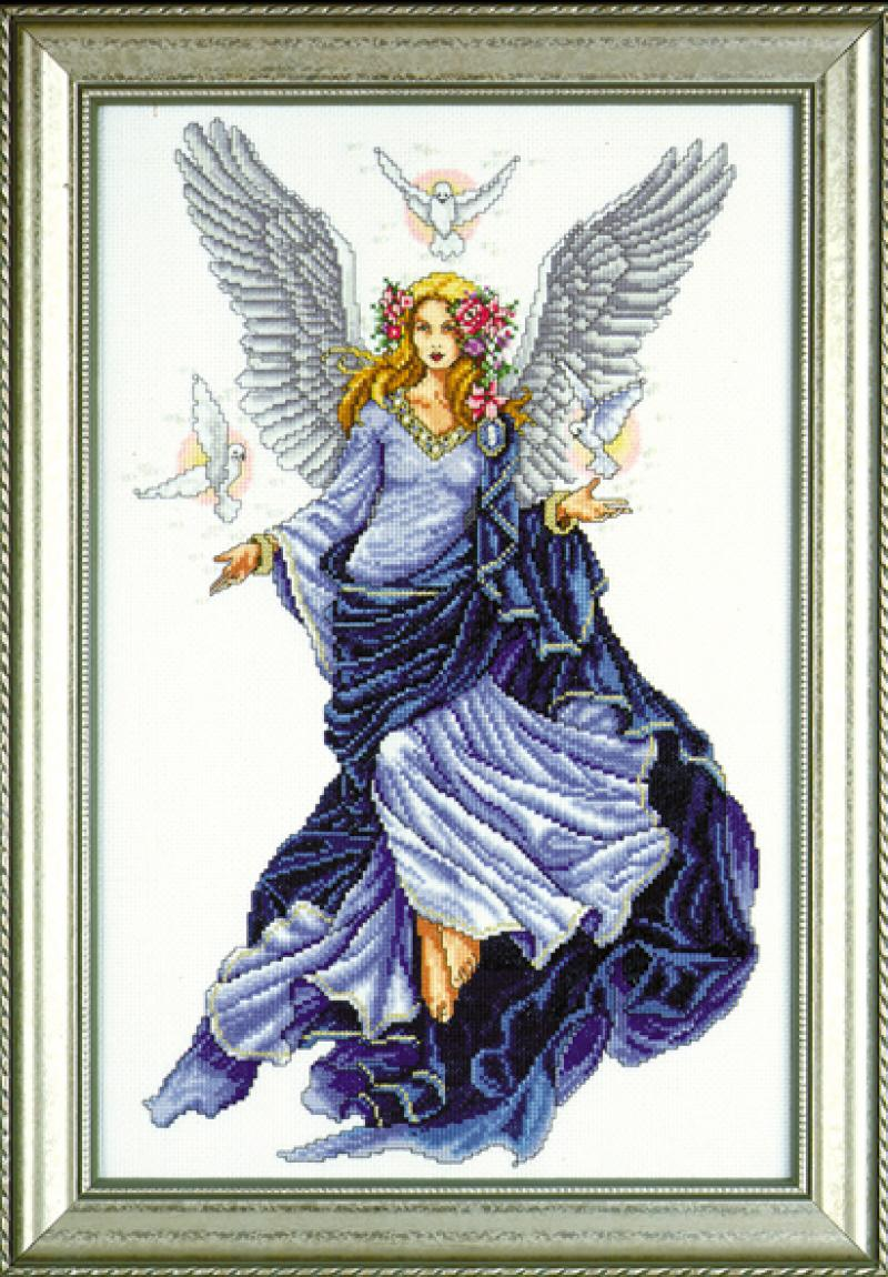 Celestial Angel Counted Cross Stitch 12 x 18 Kit