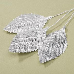 Silver Metallic - Victoria Lynn Single Rose Leaf