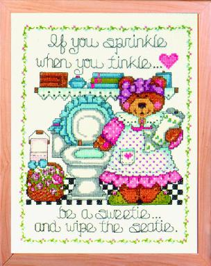 If You Sprinkle - 10 x 12 Picture Kit - Stamped for Embroidery