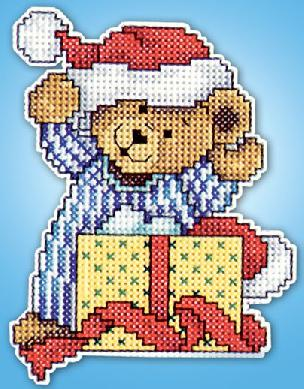 Bear w / Present Counted Cross Stitch Ornament Kit