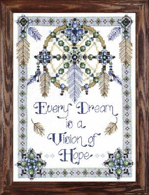 Vision of Hope - 9 x 12 inch Stamped Cross Stitch Kit