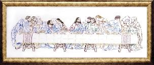 Last Supper 9 x 24 inch Stamped for Embroidery Kit