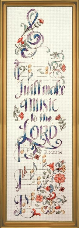 Make Music Counted Cross Stitch Kit 5 x 20 inches