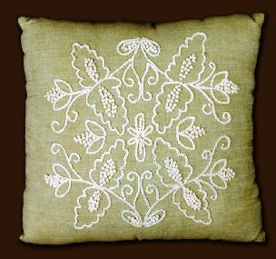Symmetry Design 14 x 14 inch Pillow Shell Candlewicking Kit