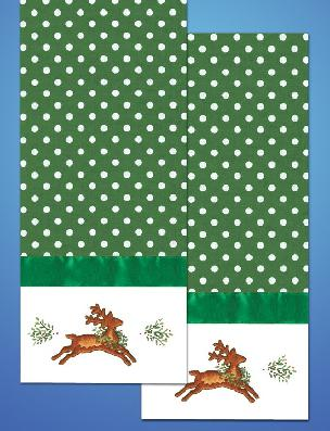Kitchen Towel - Reindeer 18 x 28 inch for Embroidery