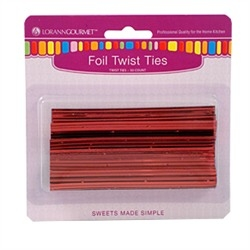 Metallic Red Twist Ties 50 pc/pk LorAnn