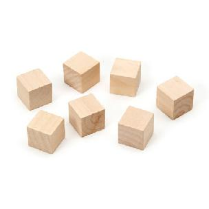 Wood Cubes - 3/4 inch - 7 pieces
