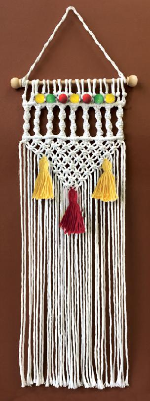 Natural Twist Macrame' Wall Hanging Kit 8 x 24 inch