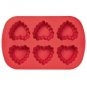 Ruffled Heart Mold - Wilton Silicone 6-Cavity