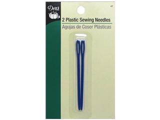 Dritz Hand Needles Sewing Plastic Blunt Tip 2pc