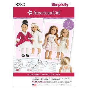 Simplicity American Girl Doll Clothes for 18 Inch Doll - 4 outfits