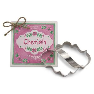 Plaque Cookie Cutter 4 inches by Ann Clark