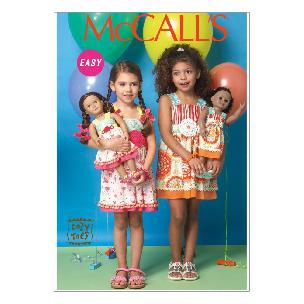 Girls' - 18 Dolls' Cozy Toes Dresses CDD 2-3-4-5 McCall's M7146