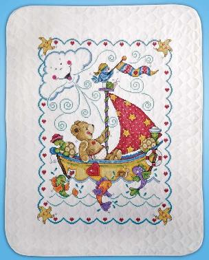 Sail Away 34 x 43 inch Baby Quilt - By Tobin