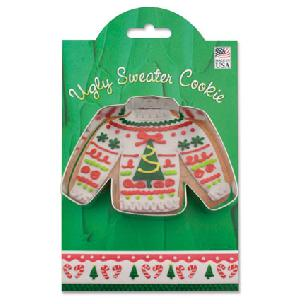 Ugly Sweater - Make More Cookies Cookie Cutter by Ann Clark