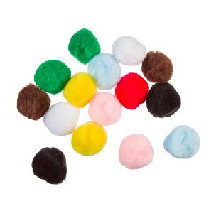 Acrylic Pom Poms - Multi Color - 1.5 inches - 15 pieces