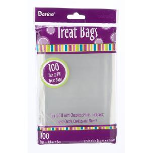 Treat Bags - Clear - 3.75 x 6 inches - 100 pieces