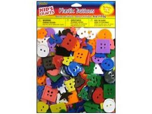 Darice Kids Plastic Kids Buttons Small Bright 6oz