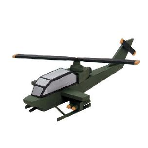 Helicopter, Attack - Wood Model Kit
