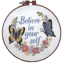 Believe in yourself Crewel Embroidery Learn-A-Craft