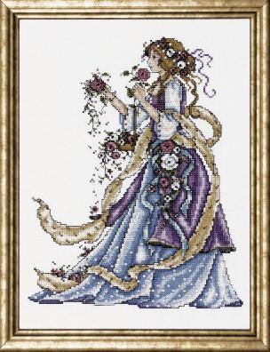Rose Lady Counted Cross Stitch Kit 9 x 12 inch