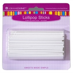 Lollipop Sticks, Small (100 pack) 4 inch by LorAnn Gourmet