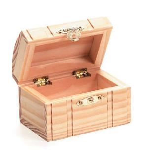 Wood Box - Hinged - with Lid - Routed - 3-1/8 x 2-3/8 x 2-1/2