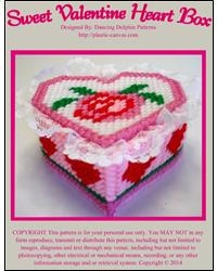 Sweet Valentine Heart Box Pattern for Plastic Canvas