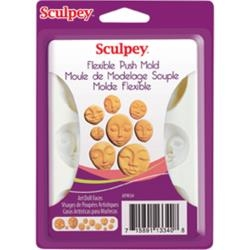 Art Doll Faces - Sculpey Flexible Push Mold