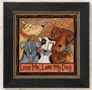 Love Me, Love My Dog Counted Cross Stitch Kit by Mill Hill