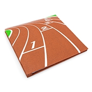 Textured Sports Memory Book - Track - 12 x 12 inches