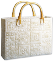 Aran Plastic Canvas Tote Bag Kit - 12 x 3 x 9 inch