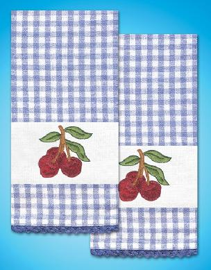 Cherry Kitchen Towels - one pair from Tobin