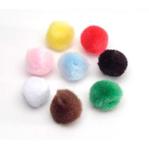 Pom Poms - Multicolor - .5 inch - 100 pieces