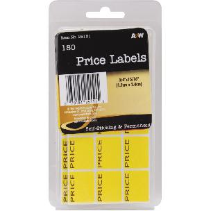 Price Labels .75 X .9375 inch