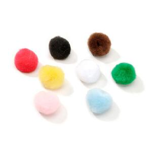 Acrylic Pom Poms - Multi Color - .75 inch - 45 pieces