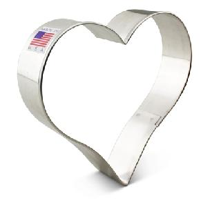 Heart Cookie Cutter 4 inch by Ann Clark