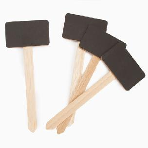 Small Chalkboard Stake Signs - 7.5 inches - 4 pieces
