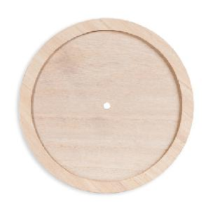 Clock Face: Unfinished Wood Trimed Round