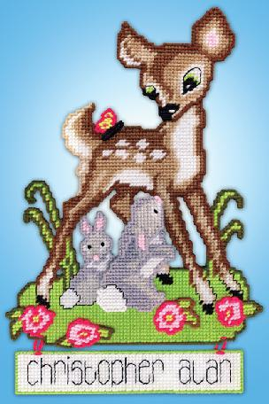 Deer Baby - Plastic Canvas Wall Hanging Kit