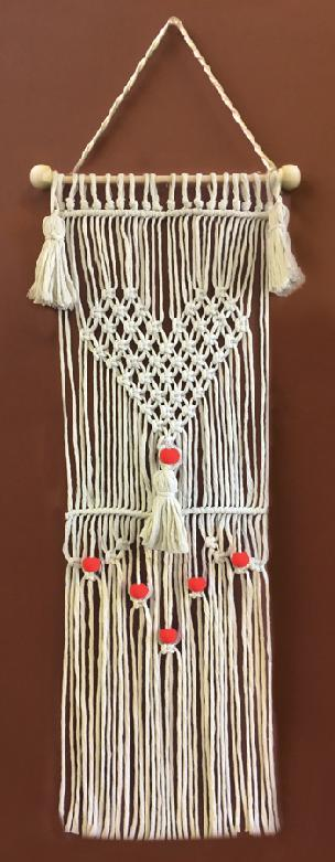 Have a Heart Macrame' Wall Hanging Kit 8 x 24 inches