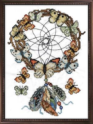 Dreamcatcher - Stamped Cross Stitch Kit 12 x12 inches