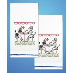 Poodles - Kitchen Towels - one pair