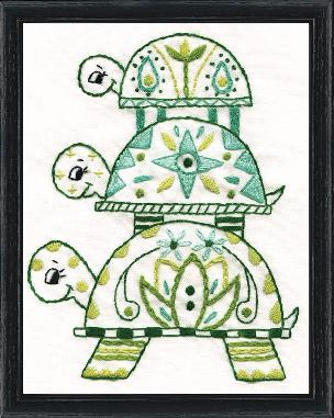 Turtles 5 x 7 inch Stamped Embroidery Kit