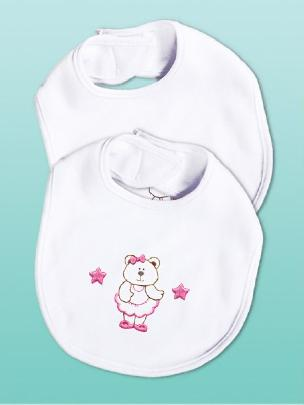 Bear Girl Soft Touch Bibs by Tobin