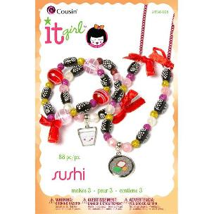 It Girl Sushi Take Out: Jewelry Beading kit by Cousin