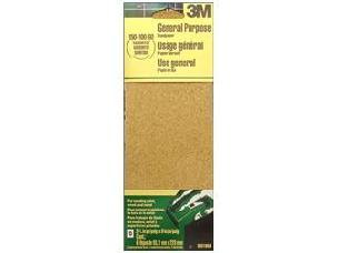 Assorted 3 x 9 inch 6 pc - 3M Aluminum Oxide Sandpaper