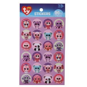 ty  Beanie Boo Girl Stickers - 12 picece set