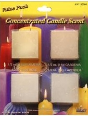 Candle Scent Value Pack - Plumeria, Gardenia, Rose, Lavender