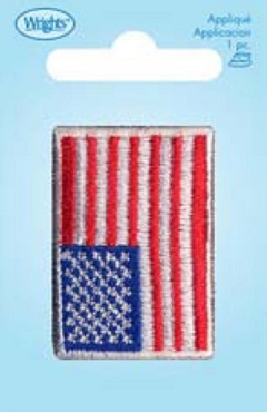 American Flag iron On Applique - Small 1 x 1 5/8 in
